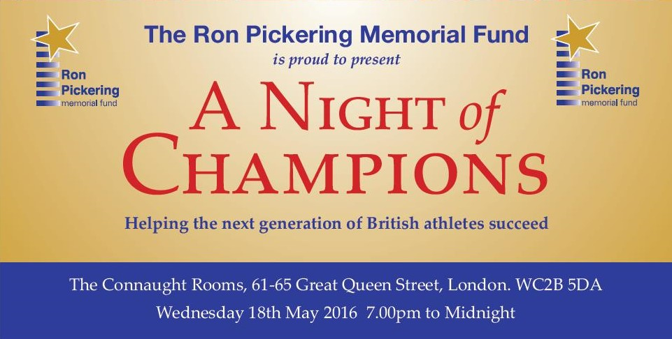 RPMF – 25th Anniversary 'A Night of Champions' Gala evening – May 18, 2016