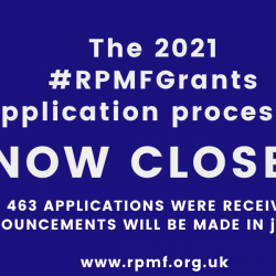 2021 RPMF Grant Applications have now closed